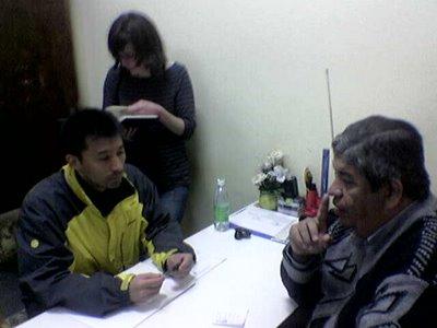 Sociolinguista japonés en el ATENEO y Power Point educativos en Guarani